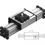 Electric linear actuators ELZQ with rack and pinion